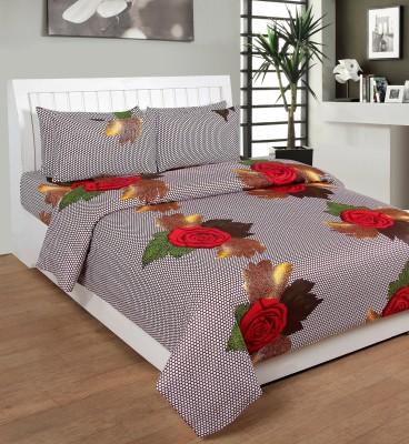 Saluja Enterprises Cotton Floral King sized Double Bedsheet