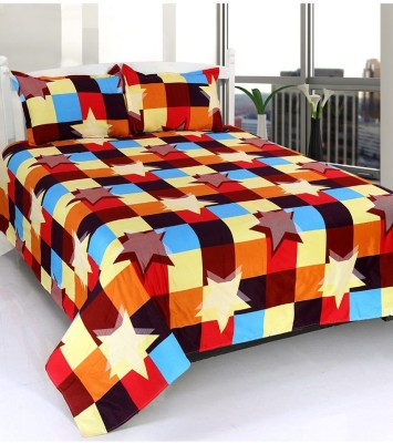 Wonder Home Collection Polyester Geometric Double Bedsheet