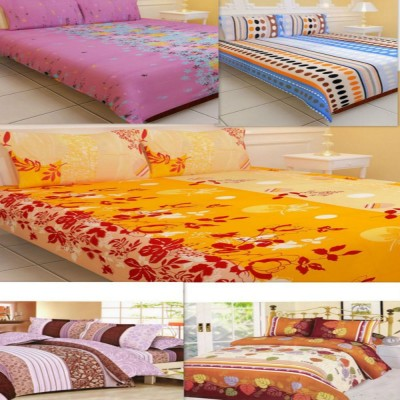 Creativehomes Polycotton Floral Double Bedsheet