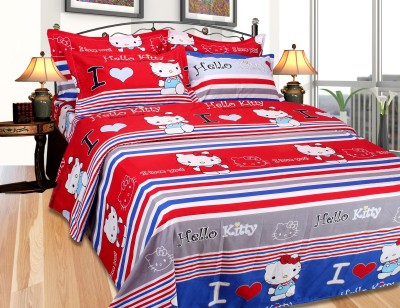 SKYTEX Cotton Cartoon Double Bedsheet