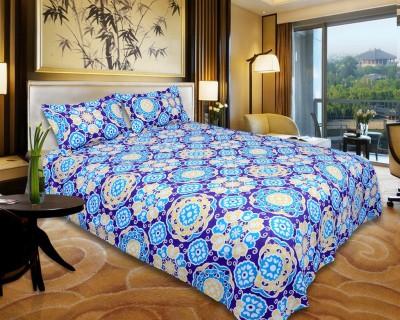 El Sandalo Cotton Abstract Double Bedsheet