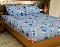 Snuggle Cotton Floral Double Bedsheet(1 Double Bed Sheet + 2 Pillow Covers, Multicolor)
