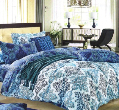 Welhouse India Cotton Floral Double Bedsheet