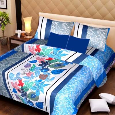 La Elite Cotton Floral Queen sized Double Bedsheet