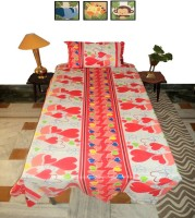 Amita Home Furnishing Cotton Abstract Single Bedsheet(1 Single Cotton Bed Sheet With 1 Pillow Cover, Multicolor)