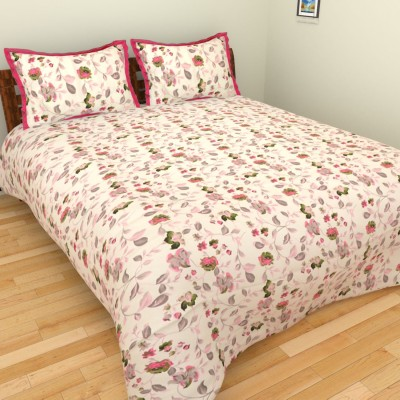 The Handloom Store Cotton Floral Double Bedsheet