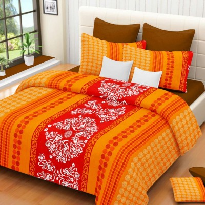 Lissome Cotton Abstract Double Bedsheet