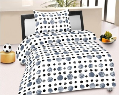 LISSOME Cotton Printed Single Bedsheet