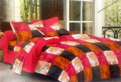 BHD Cotton Checkered Double Bedsheet