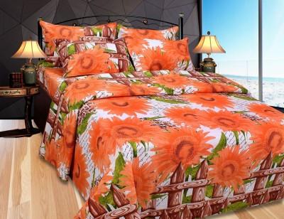 The Intellect Bazaar Cotton Floral Double Bedsheet