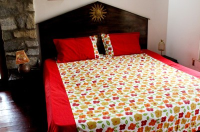 Ever Green Cotton Floral Double Bedsheet