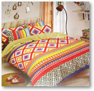 Sudesh Handloom Cotton Abstract Queen sized Double Bedsheet