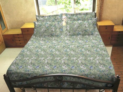 Hemlines Cotton Floral Double Bedsheet