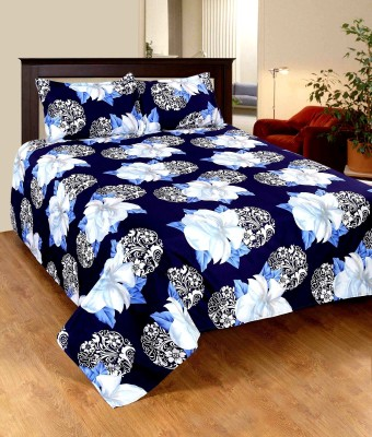 Home Castle Polyester Floral Double Bedsheet