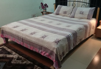 Jojo Designs Polyester Printed King sized Double Bedsheet