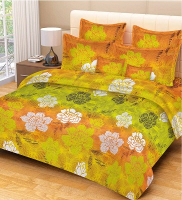 Jupiter Elite Cotton Floral Double Bedsheet