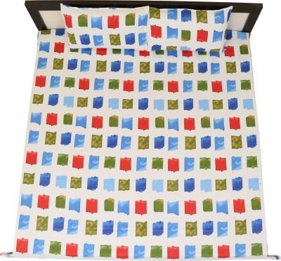 sleepwell Cotton Printed King sized Double Bedsheet