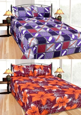 Furnishing Zone Cotton Checkered Double Bedsheet