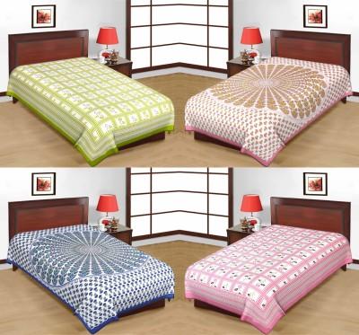 HandiCave Cotton Printed Single Bedsheet