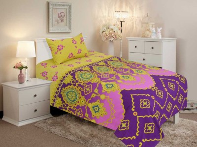 Salona Bichona Cotton Abstract Single Bedsheet