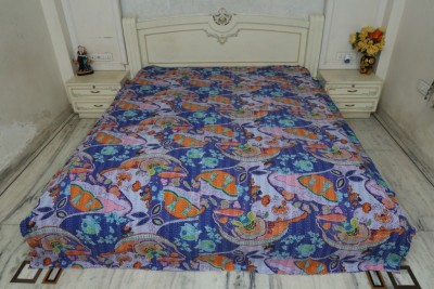 Bhavya International Cotton Printed Queen sized Double Bedsheet