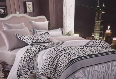 Cosy Cotton Abstract King sized Double Bedsheet
