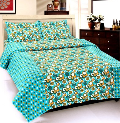 Optimistic Home Furnishing Cotton Printed Double Bedsheet