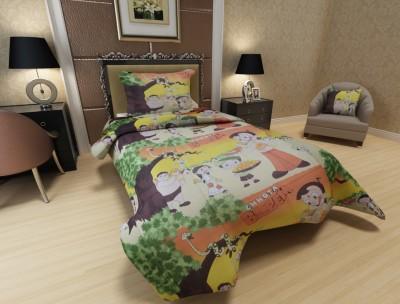 Fabrious Cotton Cartoon Single Bedsheet