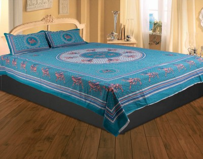 Rajasthan Crafts Cotton Printed Double Bedsheet