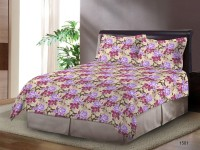 Bombay Dyeing Cotton Printed Double Bedsheet(1 Bed Sheet 2 Pillow Cover, Brown)