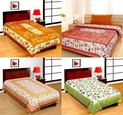 Bombay Spreads Cotton Printed Single Bedsheet