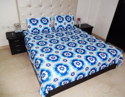 K Gallery Polycotton Geometric Double Bedsheet