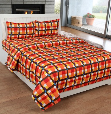 Ultimate Home Decor Cotton Checkered Double Bedsheet