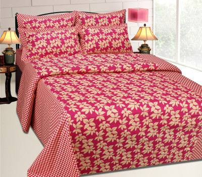 Sparklings Cotton Self Design Double Bedsheet