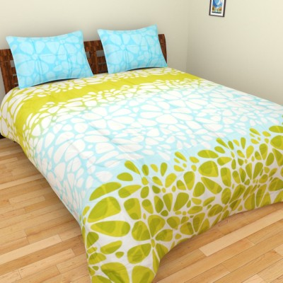 Bichauna Colette by Creative Portico Cotton Silk Blend Geometric Double Bedsheet