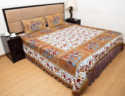 Halowishes Cotton Printed Double Bedsheet