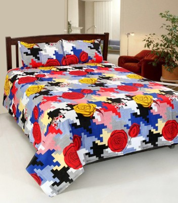 jeepole Cotton Printed Double Bedsheet