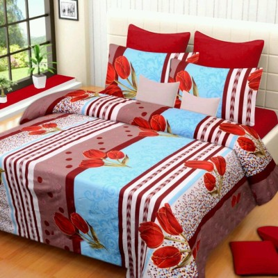 The Chaddar Polycotton Floral Double Bedsheet