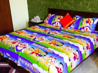 Mee Pra Polycotton Cartoon Double Bedsheet
