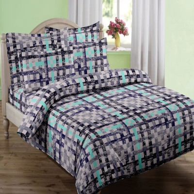 Swaas Cotton Abstract Queen sized Double Bedsheet