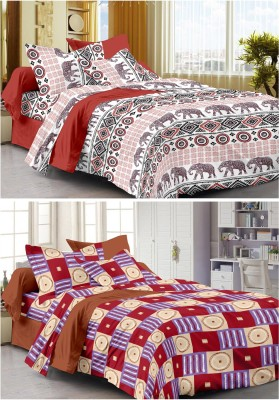 Story @ Home Cotton Abstract Double Bedsheet