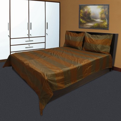 Marmitte Polyester Striped Double Bedsheet