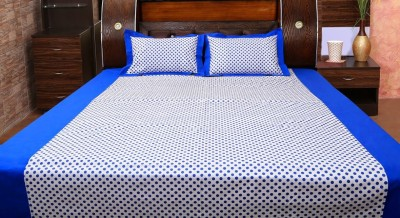 Dekor World Cotton Polka Double Bedsheet
