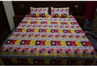 Alaji Handloom Cotton Checkered Double Bedsheet