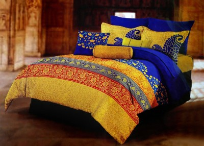 Shoppeholics Cotton Abstract King sized Double Bedsheet