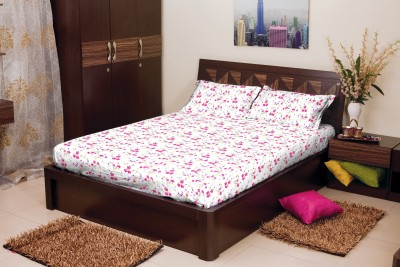 Stellar Home Cotton Floral Queen sized Double Bedsheet