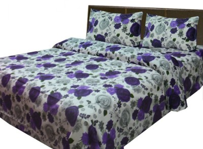 Loomkart Cotton Floral Queen sized Double Bedsheet