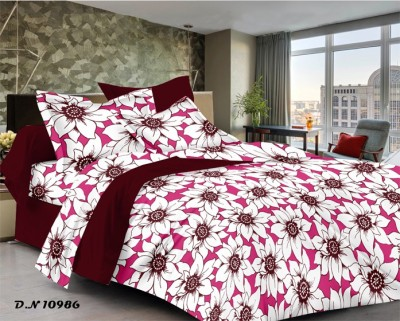 CORAL BELLS Cotton Floral Queen sized Double Bedsheet