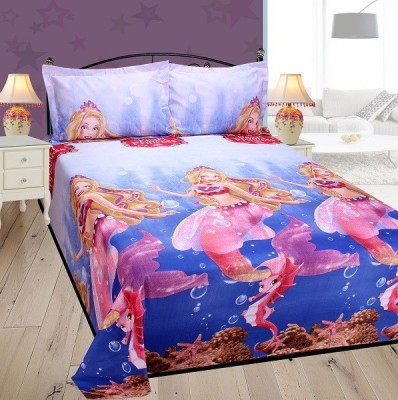 Singhs Villas Decor Polycotton Cartoon King sized Double Bedsheet