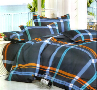 Reliable Polycotton Checkered Double Bedsheet